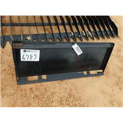 RECEIVER HITCH ATTACH PLATE, FITS SKID STEER LOADER (B5)