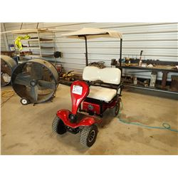 GROUND HOG 450 ELECTRIC CART, VIN/SN:8001701075 - CANOPY, REAR BASKET, ONBOARD CHARGER, 2 NEW BATTER