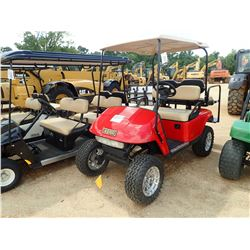 EZ-GO GOLF CART, VIN/SN:2506137 - GAS ENGINE, HIGH LIFT, CANOPY, BACK SEAT
