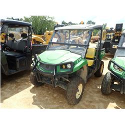JOHN DEERE XUV550 UTV, VIN/SN:011885 - 4X4, DUMP BED, WINDSHIELD, CANOPY, METER READING 1,509 HOURS