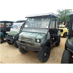 2009 KAWASAKI 4010 MULE, VIN/SN:JK1AFCS109B601301 - 4X4, GAS ENGINE, WINDSHIELD, CANOPY, DUMP BED, M