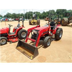 2013 MAHINDRA 3016 FARM TRACTOR, VIN/SN:30G120711958 - MFWD, 115 FRONT LOADER BUCKET, 15-19.5 TIRES,