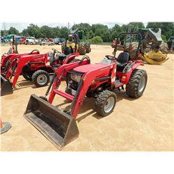 2013 MAHINDRA 3016 FARM TRACTOR, VIN/SN:912592 - MFWD, MAHINDRA 115 FRONT LOADER ATTACH, BUCKET, ROL