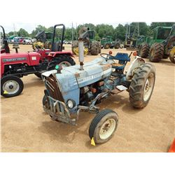 FORD 2600 FARM TRACTOR, VIN/SN:C662219 - DIESEL ENGINE, 12.4-28 REAR TIRES, METER READING 2,438 HOUR