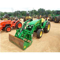 2015 JOHN DEERE 4105 FARM TRACTOR, VIN/SN:810228 - MFWD, 1 REMOTE, H165 FRONT END LOADER, BUCKET, GR