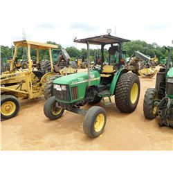 JOHN DEERE 5220 FARM TRACTOR, VIN/SN:226158 - CANOPY, 18.4-26 TIRES, METER READING 1,022 HOURS