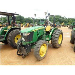 2017 JOHN DEERE 5065E FARM TRACTOR, VIN/SN:110441 - MFWD, 1 REMOTE, ROLL BAR, 16.9-28 TIRES, METER R