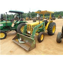 JOHN DEERE 5400 FARM TRACTOR, VIN/SN:440863 - 2 REMOTES, CANOPY, JOHN DEERE 520 FRONT LOADER ATTACHM