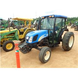NEW HOLLAND T4030 FARM TRACTOR, VIN/SN:160217000 - 1 REMOTE, CAB, A/C, 14.9-28 TIRES, METER READING