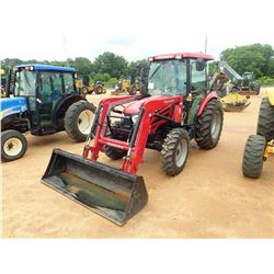 MAHINDRA 2565ST FARM TRACTOR, VIN/SN:65GCK01177 - MFWD, 1 REMOTE, MAHINDRA 2565CL FRONT LOADER ATTAC
