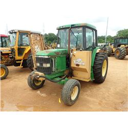 JOHN DEERE 6310 MOWER TRACTOR, VIN/SN:L06310H314939 - 2 REMOTES, 18.4-30 REAR TIRES, TIGER 7' REAR F