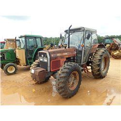 MASSEY FERGUSON 396 FARM TRACTOR, VIN/SN:D13407 - MFWD, 2 REMOTES, CAB, A/C, 18.4-34 REAR TIRES, 14.