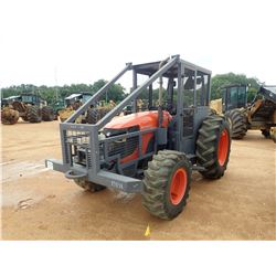 KUBOTA M108S HD FARM TRACTOR, VIN/SN:550294 - MFWD, 2 REMOTES, WINCH, CANOPY, SWEEPS, SCREEN, METER
