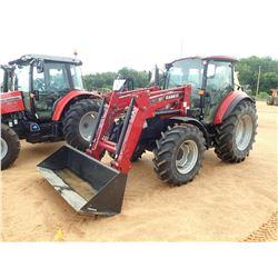 CASE 115C FARM TRACTOR, VIN/SN:ZDJX51684 - MFWD, 2 REMOTES, L630 FRONT LOADER ATTACHMENT, CAB, A/C,