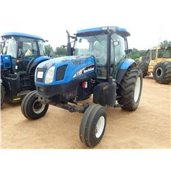 2006 NEW HOLLAND TS125A FARM TRACTOR, VIN/SN:284150 - 4 REMOTES, CAB, A/C, 18.4/34 REAR TIRES, METER