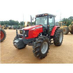 2014 MASSEY FERGUSON 5470 FARM TRACTOR, VIN/SN:D011057 - MFWD, 3 REMOTES, CAB, A/C, 18.4-34 REAR TIR