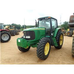 2004 JOHN DEERE 7520 FARM TRACTOR, VIN/SN:016190 - MFWD, 2 REMOTES, CAB, A/C, 18.4R38 TIRES, METER R