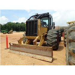 2014 CAT 545C SKIDDER, VIN/SN:54501212 - GRAPPLE, DUAL ARCH, WINCH, CAB, A/C, 30.5L-32 TIRES, METER
