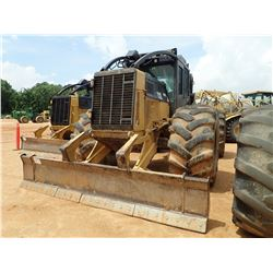 2012 CAT 545C SKIDDER, VIN/SN:54501023 - GRAPPLE, DUAL ARCH, WINCH, CAB, A/C, 35.5L-32 TIRES, METER