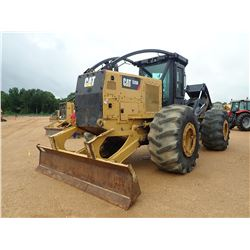 2015 CAT 535D SKIDDER, VIN/SN:MTP00151 - GRAPPLE DUAL ARCH, CAB, A/C, 30.5L-32 TIRES, METER READING