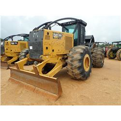 2015 CAT 535D SKIDDER, VIN/SN:0MTP00145 - GRAPPLE, DUAL ARCH, WINCH, CAB, A/C, 30.5-32 TIRES, METER