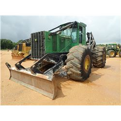 2010 JOHN DEERE 848H SKIDDER, VIN/SN:631101 - GRAPPLE, DUAL ARCH, WINCH, CAB, A/C, 30.5-32 TIRES, ME