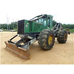 2015 JOHN DEERE 648H SKIDDER, VIN/SN:649801 - GRAPPLE, DUAL ARCH, WINCH, CAB, A/C, 30.5-32 TIRES, ME