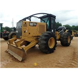 2015 CAT 525D SKIDDER, VIN/SN:GKP00198 - GRAPPLE, SINGLE ARCH, WINCH, CAB, A/C, 30.5L-32 TIRES, METE