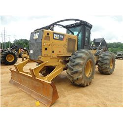 2015 CAT 525D SKIDDER, VIN/SN:GKP00186 - GRAPPLE, DUAL ARCH, WINCH, CAB, A/C, 30.5L-32 TIRES, METER