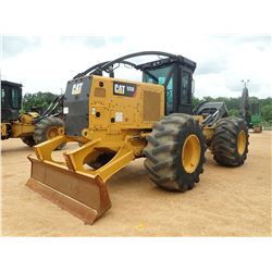 2015 CAT 525D SKIDDER, VIN/SN:GKP00212 - GRAPPLE, SINGLE ARCH, WINCH, CAB, A/C, 30.5L-32 TIRES, METE