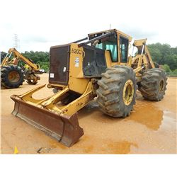 TIGERCAT 620C SKIDDER, VIN/SN:6201211 - GRAPPLE, DUAL ARCH, CAB, A/C, 30.5L-32 TIRES, METER READING