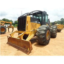 2007 CAT 525C SKIDDER, VIN/SN:52500313 - GRAPPLE, DUAL ARCH, WINCH, CAB, A/C, 30.5L-32 TIRES, METER
