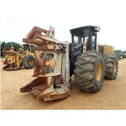 2012 CAT 573C FELLER BUNCHER, VIN/SN:RJT00250 - SAW HEAD, CAB, A/C, 30.5R-32 TIRES, METER READING 9,