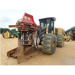 2012 CAT 553C FELLER BUNCHER, VIN/SN:PGR00269 - SH56B SAW HEAD, CAB, A/C, 28L-26 TIRES, METER READIN