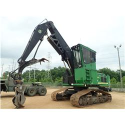JOHN DEERE 2154D LOG LOADER, VIN/SN:210002 - TRACK MTD, CAB, A/C, METER READING 15,521 HOURS