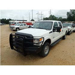 2016 FORD F350 PICKUP, VIN/SN:1FT8W3BT2GEA81266 - 4X4, CREW CAB, FORD POWERSTROKE DIESEL ENGINE, A/T