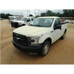 2015 FORD F150XL PICKUP, VIN/SN:1FTMF1C86FFB83921 - V6 GAS ENGINE, A/T, ODOMETER READING 2,552 MILES