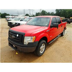 2012 FORD F150 XL PICKUP TRUCK, VIN/SN:1FTFW1AT8CKD70493 - 4X4, CREW CAB, V6 ECO BOOST ENGINE, A/T