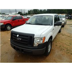2011 FORD F150 XL PICK UP, VIN/SN:1FTFW1CF4BFB28594 - CREW CAB, GAS ENGINE, A/T, ODOMETER READING 16