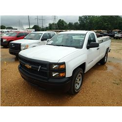 2014 CHEVROLET SILVERADO PICKUP, VIN/SN:1GCNCPEC8EZ121533 - V8 GAS ENGINE, A/T, REAR & SIDE TOOL BOX