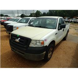 2007 FORD F150 PICKUP, VIN/SN:1FTRF12247KB72363 - EXT CAB, V6 GAS ENGINE, A/T, ODOMETER READING 168.