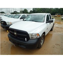2014 DODGE RAM 1500 PICK UP, VIN/SN:1C6RR6FG6ES377746 - EXT CAB, V8 GAS ENGINE, A/T, ODOMETER READIN