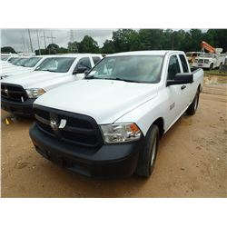 2015 DODGE RAM 1500 PICK UP, VIN/SN:1C6RR6FGCF5668546 - EXT CAB, V8 GAS ENGINE, A/T, ODOMETER READIN