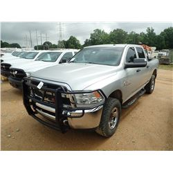 2013 DODGE RAM 2500HD PICK UP, VIN/SN:3C6UR5GL9DG560795 - 4X4, CREW CAB, CUMMINS TURBO DIESEL ENGINE