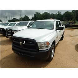 2015 RAM 2500HD PICKUP, VIN/SN:3C6TR4CT6FG585467 - CREW CAB, V8 GAS, A/T, ODOMETER READING 134,276 M