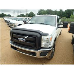 2012 FORD F250 PICK UP, VIN/SN:1FT7W2BT0CEB48253 - 4X4, CREW CAB, POWER STROKE DIESEL ENGINE, A/T, O