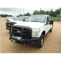 2011 FORD F250 PICKUP, VIN/SN:1FT7X2B66BEB95583 - 4X4, EXT CAB, V8 GAS ENGINE, A/T, WINCH, ODOMETER