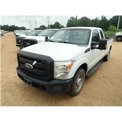 2011 FORD F250 PICKUP, VIN/SN:1FT7X2A65BEA37141 - EXTENDED CAB, V8 GAS ENGINE, A/T, ODOMETER READING