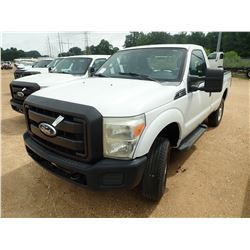 2011 FORD F250 PICKUP, VIN/SN:1FTBF2B61BEA37133 - 4X4, V8 GAS ENGINE, A/T, ODOMETER READING 76,721 M