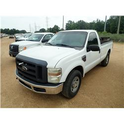2008 FORD F250 PICK UP, VIN/SN:1FTSF20R88EC34175 - EXT CAB, POWER STROKE DIESEL ENGINE, A/T, HYD LIF